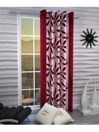 Curtain Single Curtain For Door & Window  (Floral, Pink)