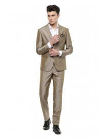 Men's Solid Slim Fit Two Piece Suit
