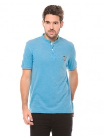 Men's Mandarin Collar Regular Fit Polo T-shirt