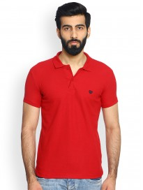 Men's Solid Polo Collar T-shirt