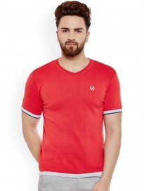 Men's Solid V-Neck T-shirt
