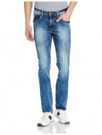 Men's Slim Tapered Fit Distressed Jeans