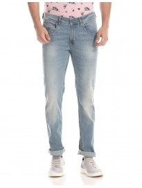 Men's Slim Tapered Fit Washed Jeans
