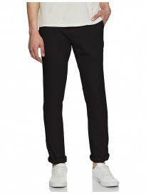 Indian Terrain Men's Tapered Fit Casual Trousers
