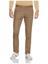 Indian Terrain Men's Relaxed Fit Casual Trousers