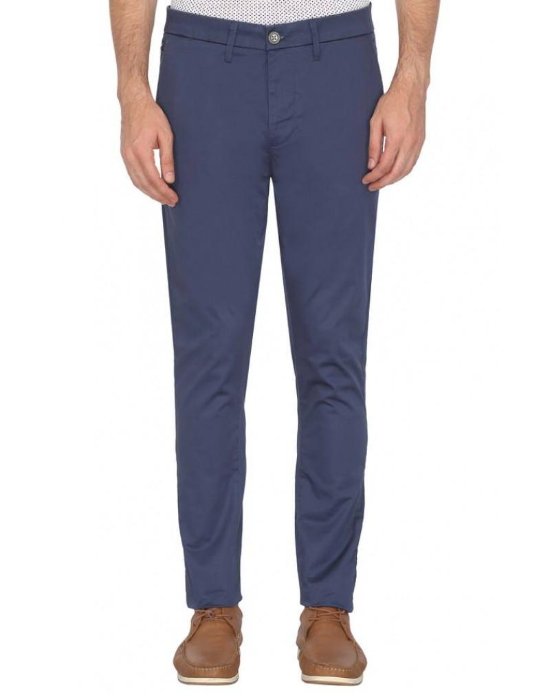Men's 5 pocket Solid Casual Trousers