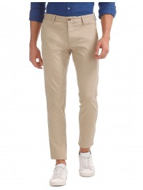 Men's Mid Rise Slim Tapered Fit Casual Trousers