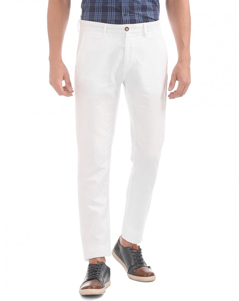 Men's Mid Rise Slim Fit Casual Trousers