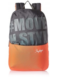 Skybags 15 Ltrs Black Casual Backpack (Uno 01)