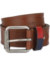 U.S. POLO ASSN.  Men Casual Brown Genuine Leather Belt