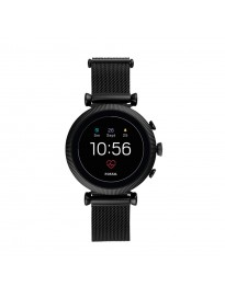 Fossil Gen 4 Sloane Stainless Steel Touchscreen Women's Smartwatch with Heart Rate, GPS, Music Storage and Smartphone Notifications - FTW6050 (40mm, Black)