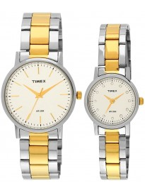 Timex Classics Analog Silver Dial Couple Watch - TW00PR197