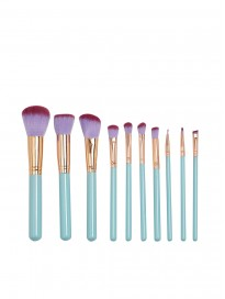 Women's Glam Clam Set of 10 Makeup Brushes