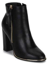 TRUFFLE COLLECTION Women's CALLIE5 Black PU Boots