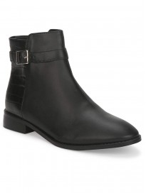 TRUFFLE COLLECTION Women's ST-1075 Black PU Boots