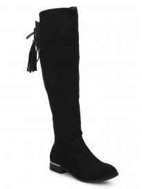 TRUFFLE COLLECTION Women's HAT150 Black Suede Boots