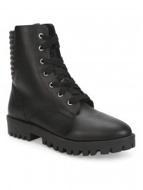 TRUFFLE COLLECTION Women's ST-1060 Black PU Boots