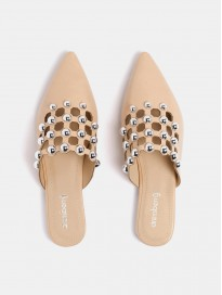 Women's Embellished Cut-Out Mules