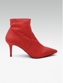 Women's Solid Mid Top Heeled Boots