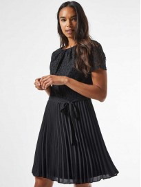 DOROTHY PERKINS  Women Fit and Flare Black Dress