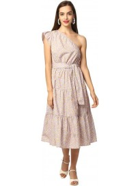 ELLE  Women Fit and Flare Multicolor Dress