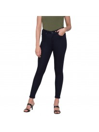 Globus Navy Solid High-Rise Jeans
