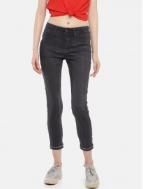 Women's Regular Fit Mid Rise Clean Look Jeans