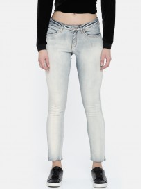 Women's Skinny Fit Mid Rise Clean Look Jeans