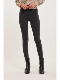 Cover Story  Tapered Fit Women Black Jeans