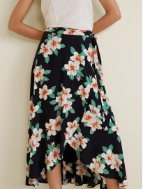 Women's Floral Printed Wrap Skirt