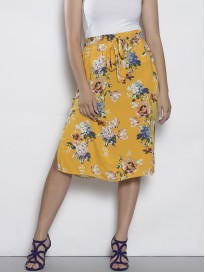Women's Floral Printed Straight Skirt