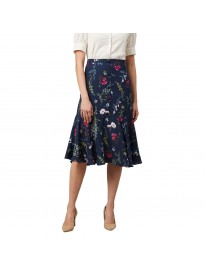 Marie Claire Synthetic Fit and Flare Skirt