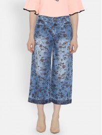 Women's Flared Printed Culottes