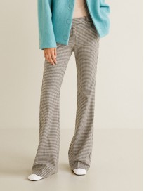 Women's Checked Regular Fit Parallel Trousers
