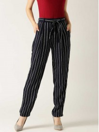 Women's Printed Regular Fit Parallel Trousers