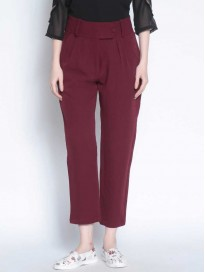 Women's Solid Original Fit Parallel Trousers