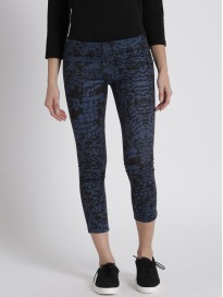 Women's Printed Tapered Fit Regular Trousers