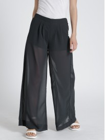 Women's Solid Loose Fit Parallel Trousers