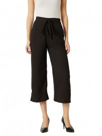 Miss Chase Women's Magenta Belted Culotte Pants