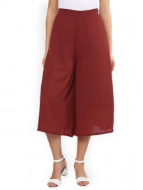 Women's Solid Flare Culottes