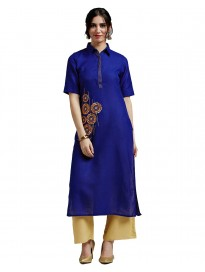 Women's Handloom Cotton Kurta & Palazzo Set