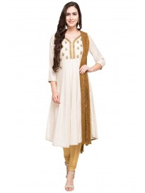 Women's Embroidered Churidar Suit