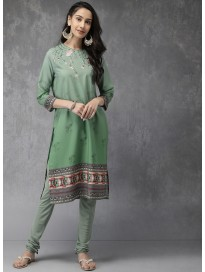 Women's Printed Kurta & Churidar set