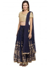 Women's Round Neck Assorted Lehenga Choli & Dupatta Set
