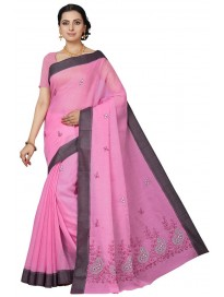 Women's Embroidered Saree & Blouse Piece