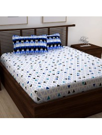 Floral 160 TC Cotton 1 King Bedsheet with 2 Pillow Covers