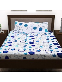 Floral 160 TC Cotton Bedsheet with 2 Pillow Covers