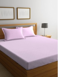250 TC Cotton 1 King Bedsheet with 2 Pillow Covers