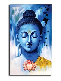 Hand-Painted Buddhist Believe Wall Art