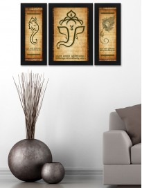 Set of 3 Ganesha Paintings